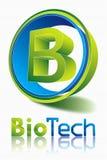 生物科技logodesign 库存例证