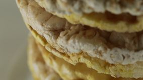 生物米和玉米蛋糕 股票视频
