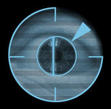 生物统计的眼睛视网膜扫描程序 库存照片