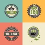 生物邮票;ECO,有机标签收藏 免版税库存照片