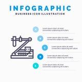生物,化学,遗传学,医疗,研究线象有5步介绍infographics背景 库存例证
