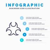 生物,危险,标志,科学线象有5步介绍infographics背景 皇族释放例证