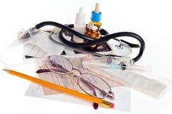 医生用于的医疗项目静物画对待 库存照片