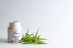 医生的治疗的医疗大麻大麻 免版税库存图片