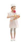 医生礼服的女孩  免版税图库摄影
