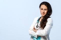 医生纵向妇女年轻人 库存图片