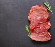 生肉,牛肉内圆角 库存照片