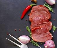 生肉,牛肉内圆角 免版税库存图片