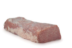生肉& x28; 猪肉ham& x29;隔绝在白色背景 库存图片