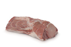 生肉& x28; 猪肉ham& x29;隔绝在白色背景 图库摄影