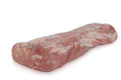 生肉& x28; 猪肉ham& x29;隔绝在白色背景 库存照片