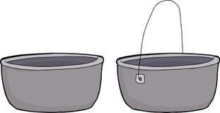 生铁罐 向量例证