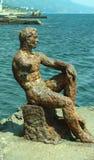 生铁雕塑阿廖沙 图库摄影