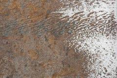 生锈和干净的表面 免版税库存图片
