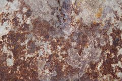 生锈和腐蚀性金属纹理 图库摄影