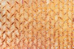 生锈和被抓的织地不很细金属板 抽象背景 免版税库存照片