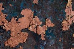 生锈和被风化的墙壁3 免版税库存照片