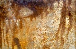 生锈在金属板,生锈的背景 免版税库存照片