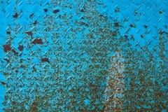 生锈波纹状的金属 库存图片