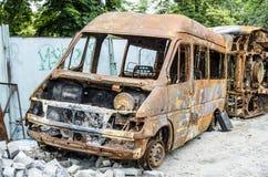 生锈的公共汽车 免版税图库摄影