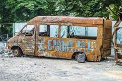 生锈的公共汽车 免版税库存照片