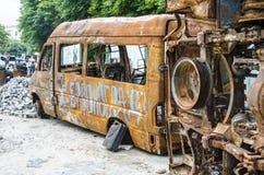 生锈的公共汽车 库存照片