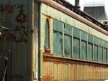 生锈的列车车箱 库存照片