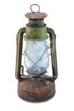 生锈的古色古香的油灯 库存图片