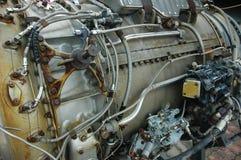 生锈的喷气机引擎 库存图片