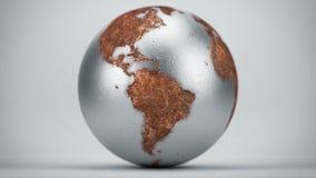生锈的地球南美 库存图片