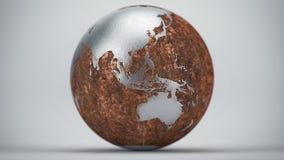 生锈的地球大洋洲亚洲 免版税库存图片