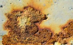 生锈的墙壁纹理 图库摄影