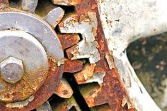生锈的大齿轮 库存照片