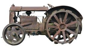生锈的小拖拉机 免版税库存图片
