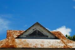 生锈的屋顶 免版税库存照片