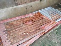 生锈的屋顶 库存照片