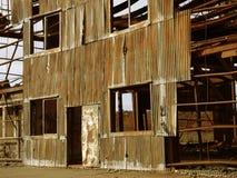 生锈的工业废墟 图库摄影