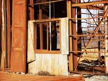 生锈的工业废墟 库存照片