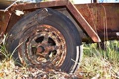生锈的拖车 库存照片