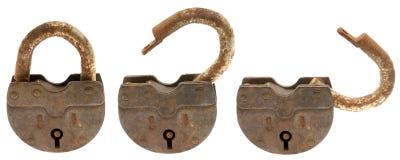 生锈的挂锁 免版税图库摄影