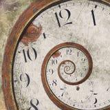 生锈的时钟漩涡 库存图片