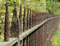 生锈的栏杆 免版税图库摄影