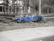 生锈的汽车。 免版税图库摄影