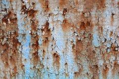 生锈的油漆纹理 免版税库存照片
