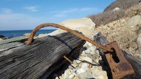 生锈的漂流木头 免版税库存图片