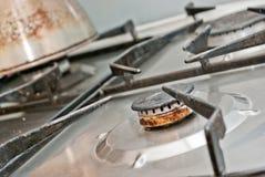 生锈的煤气喷燃器 库存图片