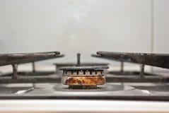 生锈的煤气喷燃器 库存照片