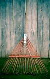 生锈的犁耙 免版税图库摄影