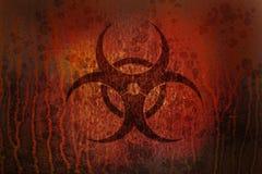生锈的生物危害品 库存图片