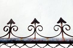 生锈的生铁栏杆 库存照片